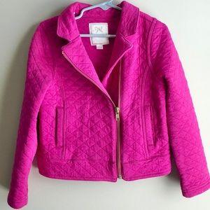 Gymboree Quilted Moto Pink Jacket